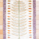 カシュクリ・101×65・白原毛・生命の樹・玄関サイズ・真上画