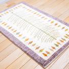 カシュクリ・101×65・白原毛・生命の樹・玄関サイズ・使用イメージ画