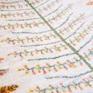 カシュクリ・101×65・白原毛・生命の樹・玄関サイズ・アップ画
